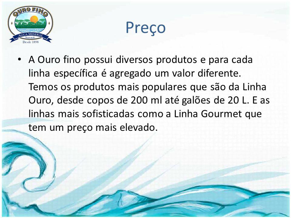 Preço A Ouro fino possui diversos produtos e para cada linha específica é agregado um valor diferente.