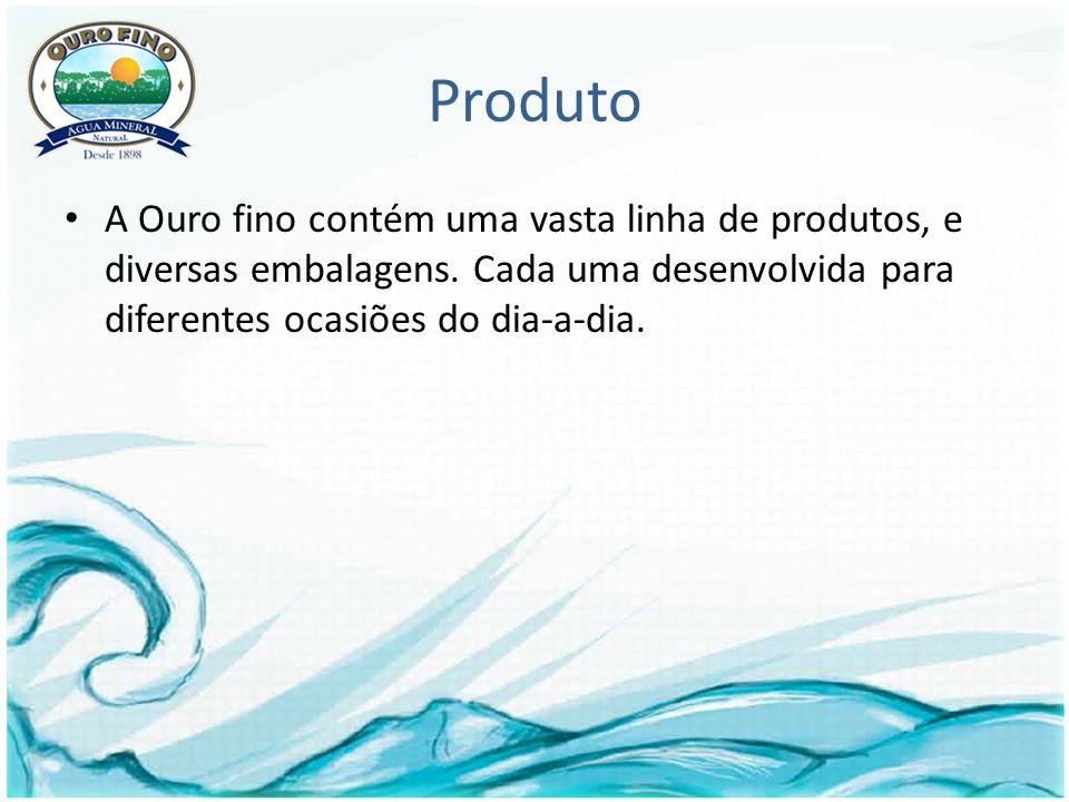 Produto A Ouro fino contém uma vasta linha de produtos, e diversas embalagens.