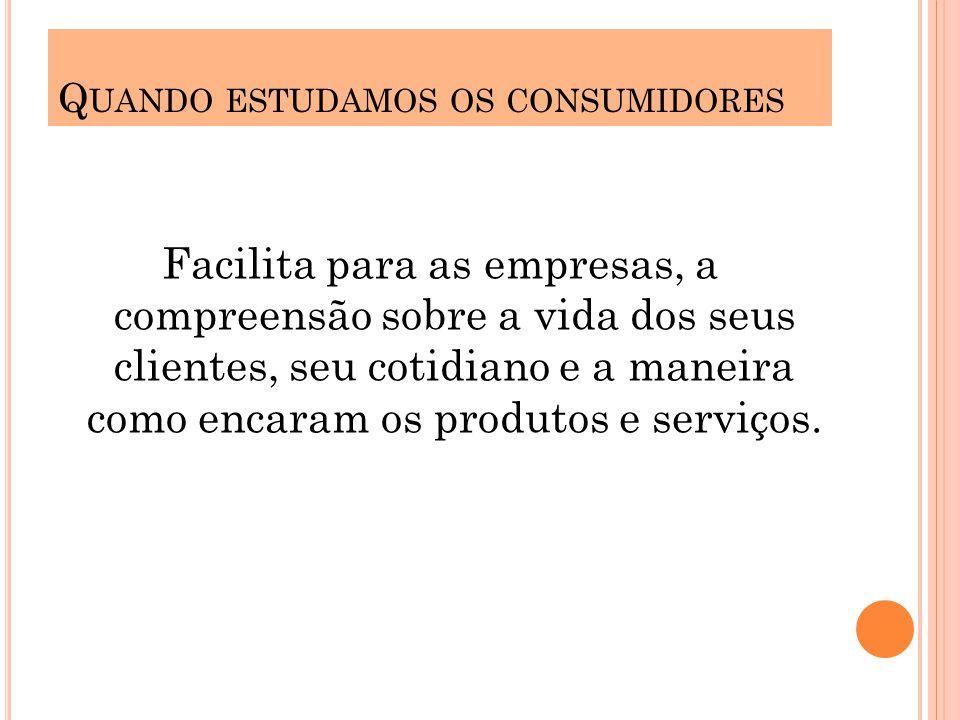 T EORIAS SOBRE O COMPORTAMENTO DO CONSUMIDOR Entendendo o comportamento do consumidor