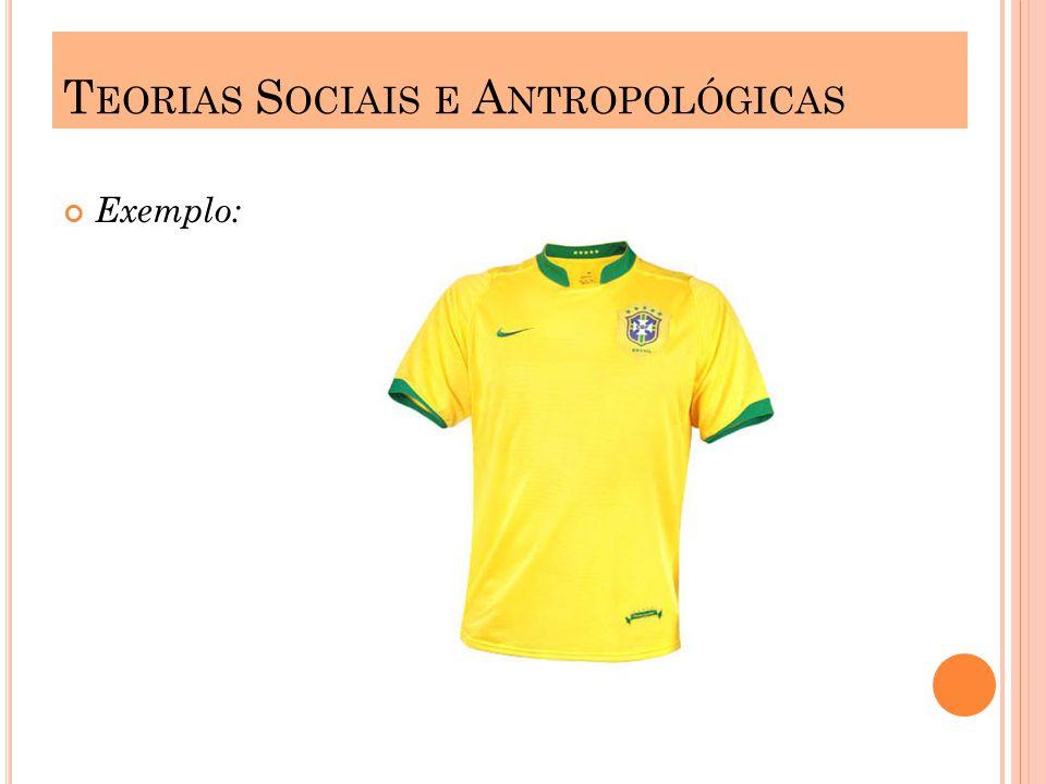 Exemplo: T EORIAS S OCIAIS E A NTROPOLÓGICAS