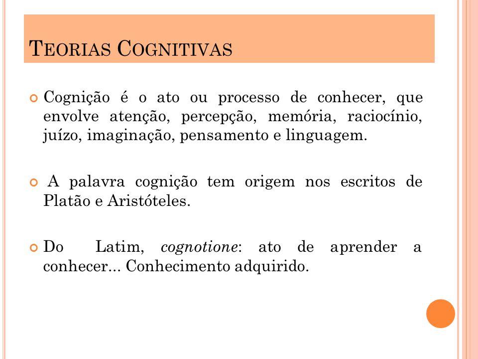 Cognição é o ato ou processo de conhecer, que envolve atenção, percepção, memória, raciocínio, juízo, imaginação, pensamento e linguagem. A palavra co