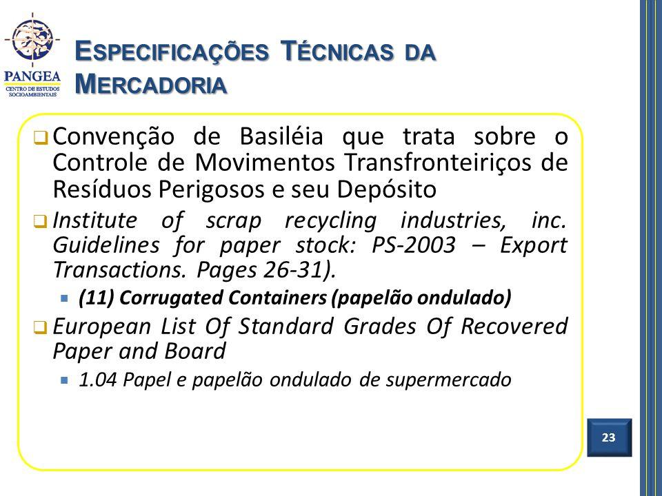 Convenção de Basiléia que trata sobre o Controle de Movimentos Transfronteiriços de Resíduos Perigosos e seu Depósito Institute of scrap recycling ind