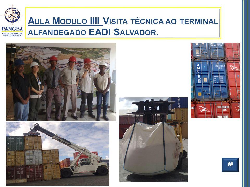 28 A ULA M ODULO IIII V ISITA TÉCNICA AO TERMINAL ALFANDEGADO EADI S ALVADOR. 28