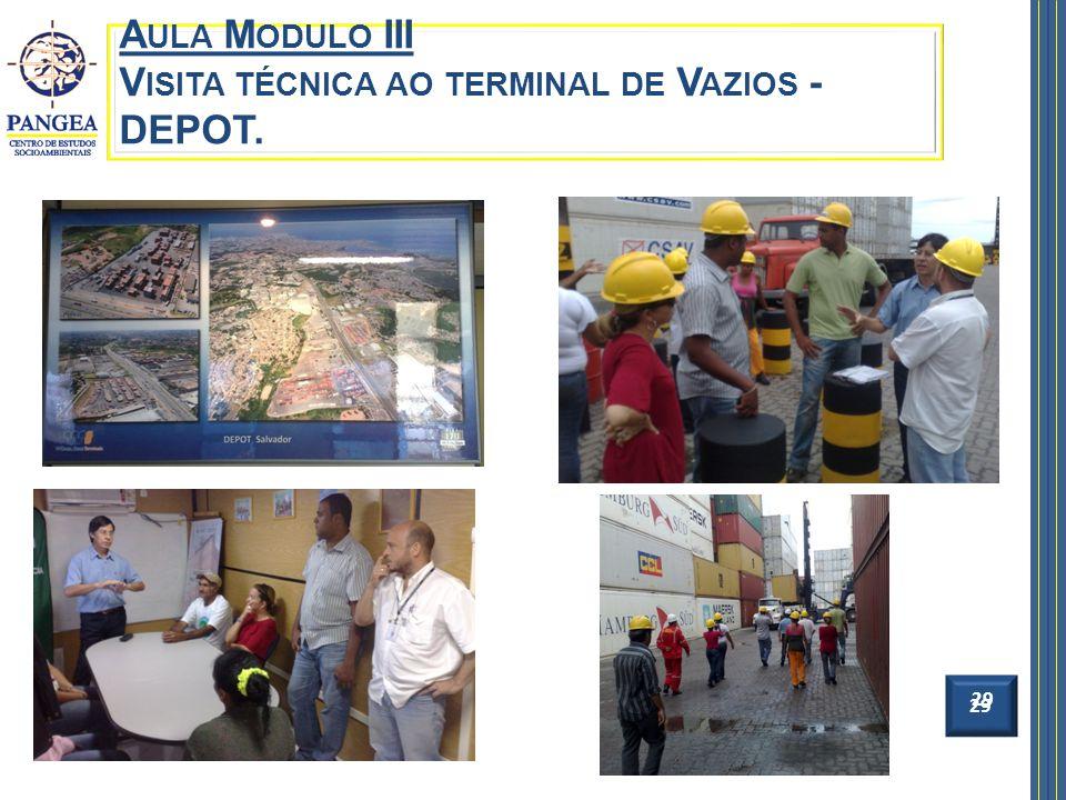 29 A ULA M ODULO III V ISITA TÉCNICA AO TERMINAL DE V AZIOS - DEPOT. 29