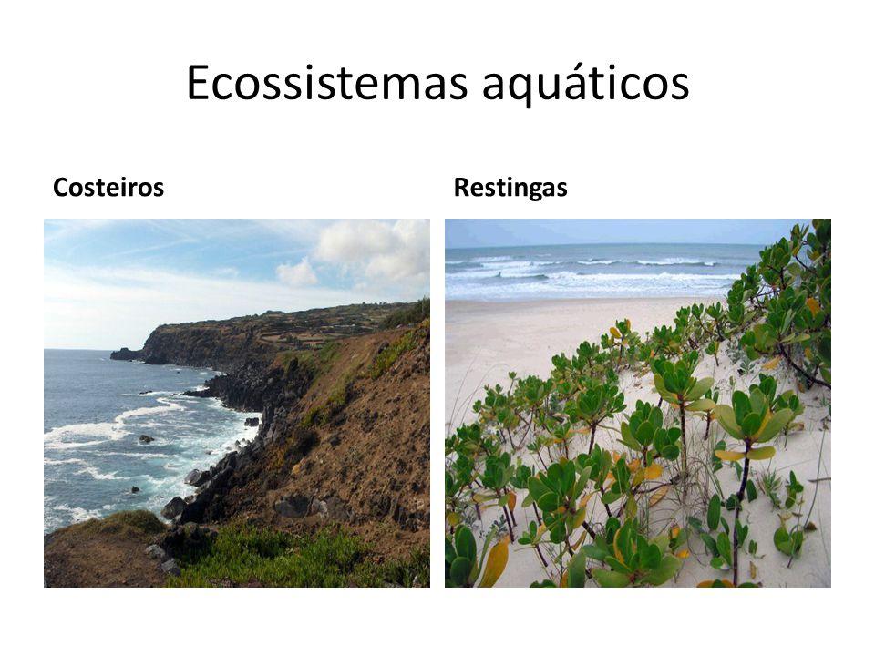 Ecossistemas aquáticos CosteirosRestingas