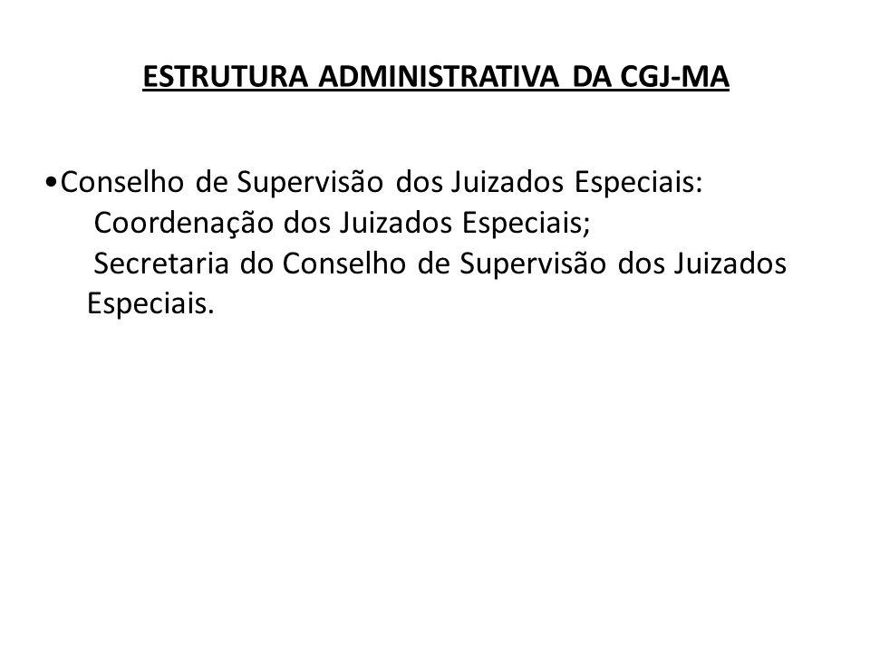 Conselho de Supervisão dos Juizados Especiais: Coordenação dos Juizados Especiais; Secretaria do Conselho de Supervisão dos Juizados Especiais. ESTRUT