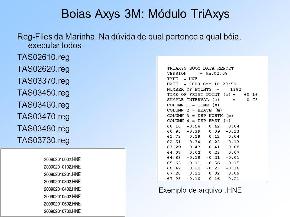 Reg-Files da Marinha. Na dúvida de qual pertence a qual bóia, executar todos. TAS02610.reg TAS02620.reg TAS03370.reg TAS03450.reg TAS03460.reg TAS0347