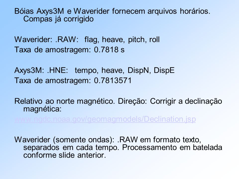 Boias Axys 3M