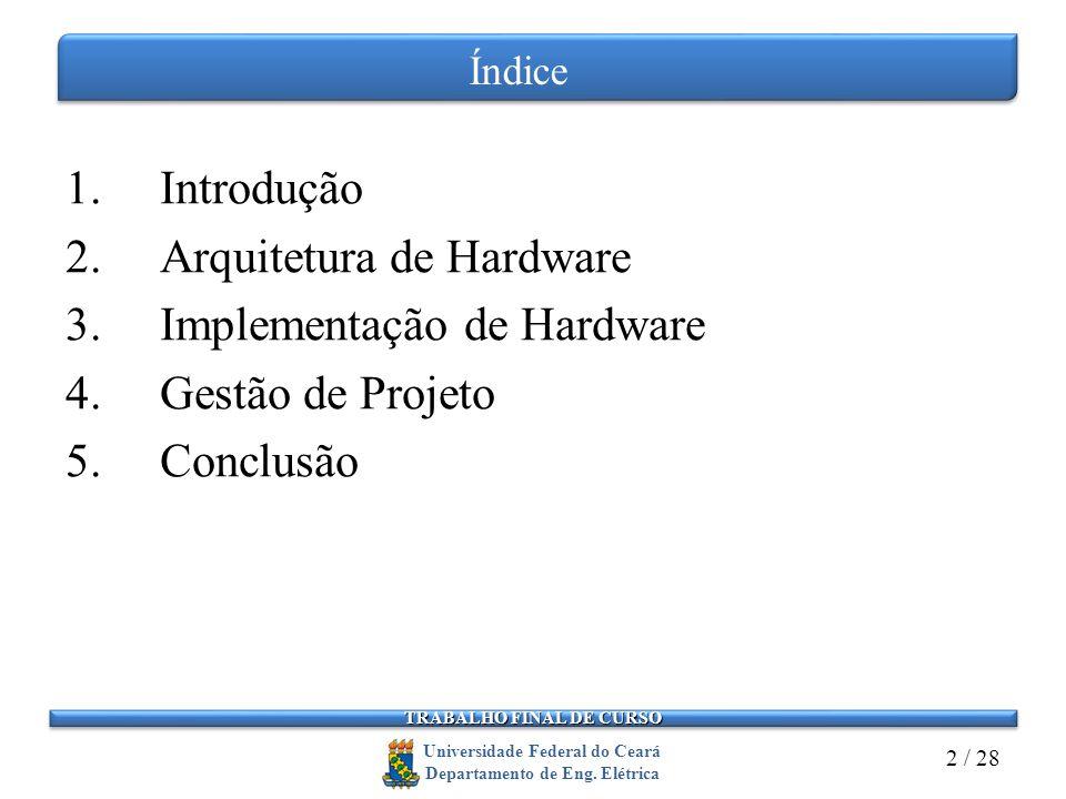 TRABALHO FINAL DE CURSO Universidade Federal do Ceará Departamento de Eng.