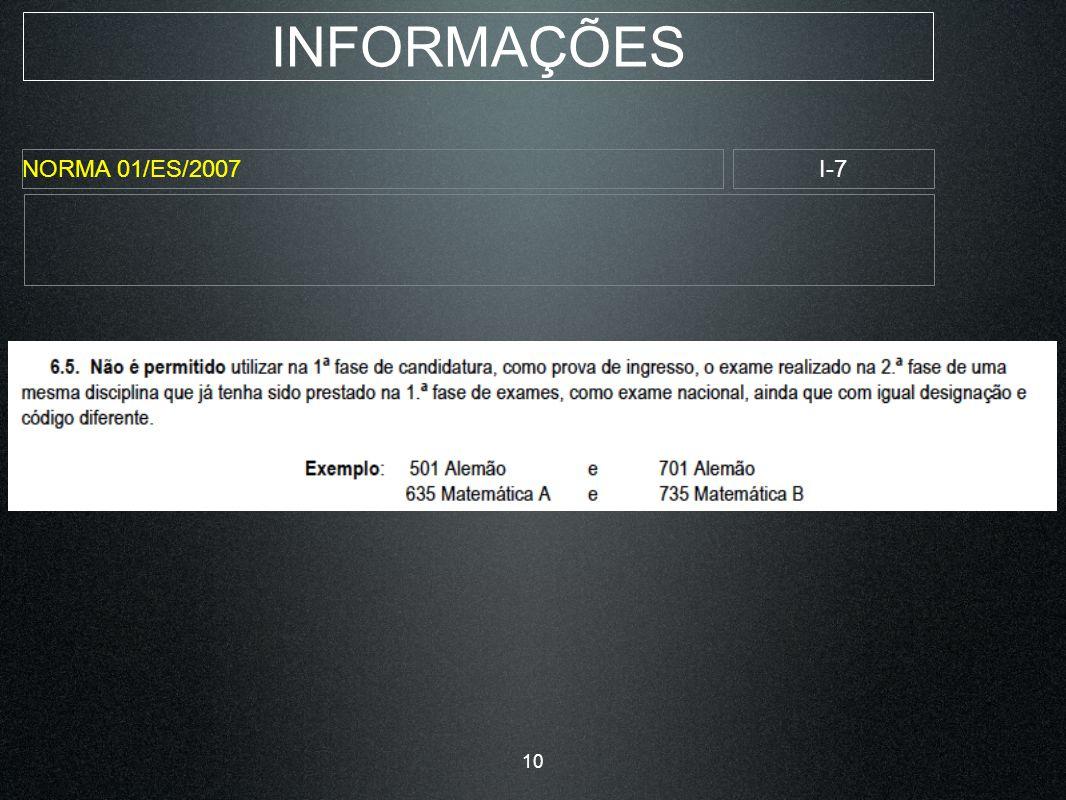 INFORMAÇÕES NORMA 01/ES/2007I-7 10