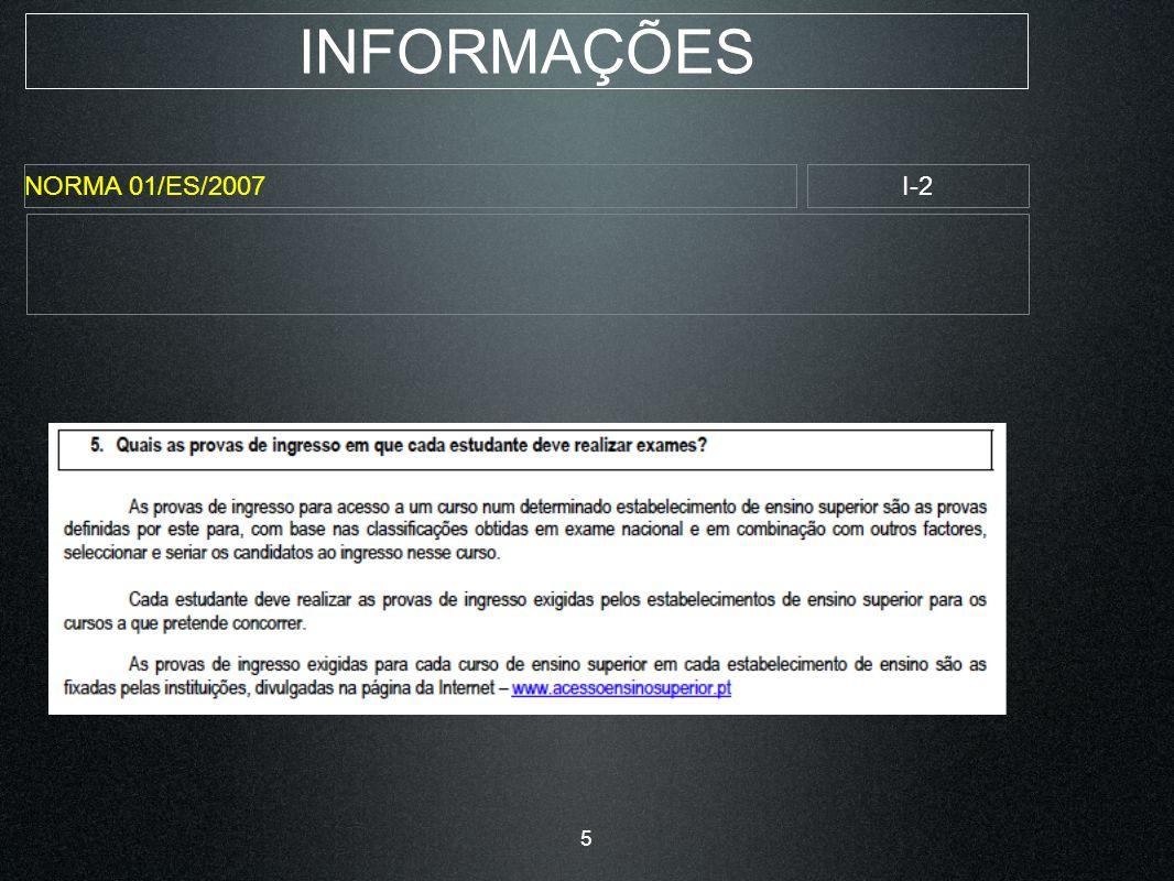 INFORMAÇÕES NORMA 01/ES/2007I-3 6