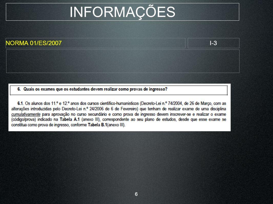 INFORMAÇÕES NORMA 01/ES/2007I-14 17