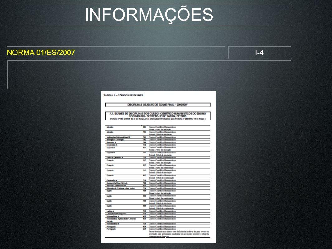 INFORMAÇÕES NORMA 01/ES/2007I-4 7