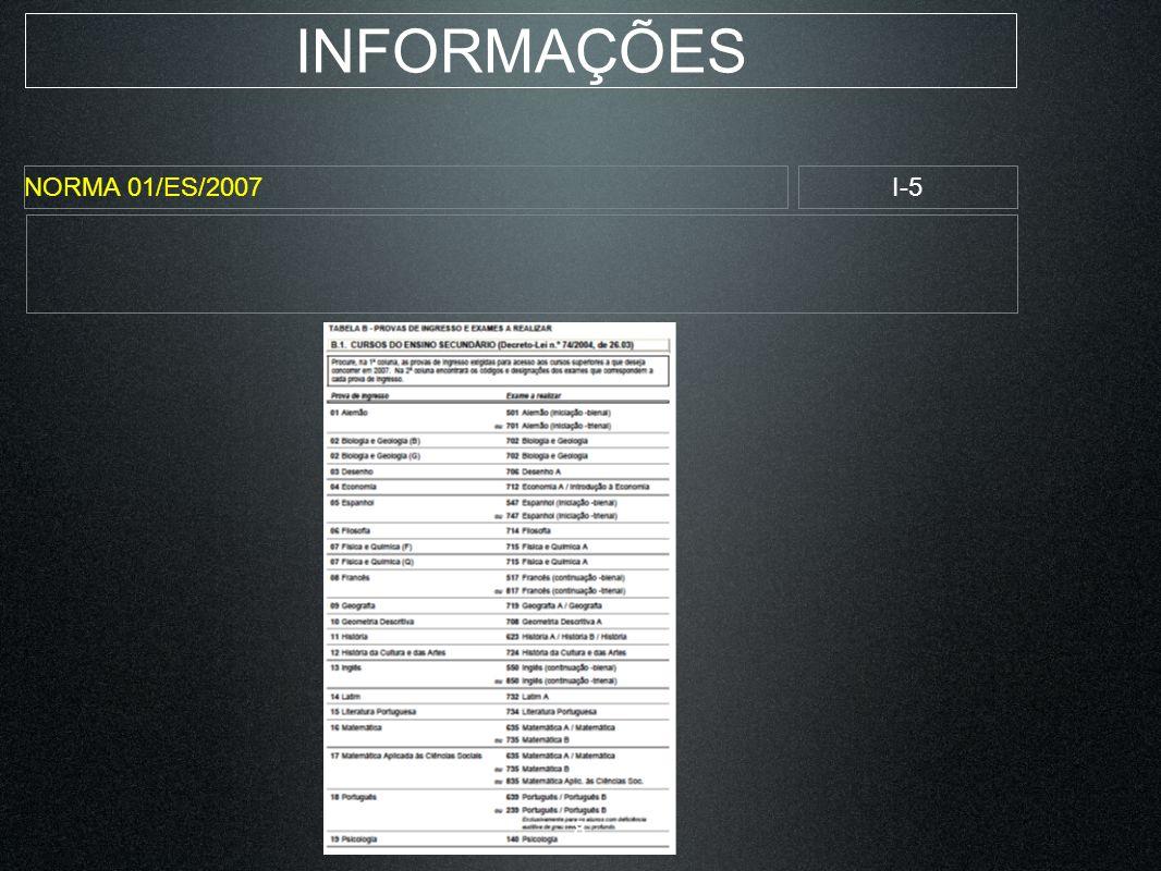 INFORMAÇÕES NORMA 01/ES/2007I-6 9