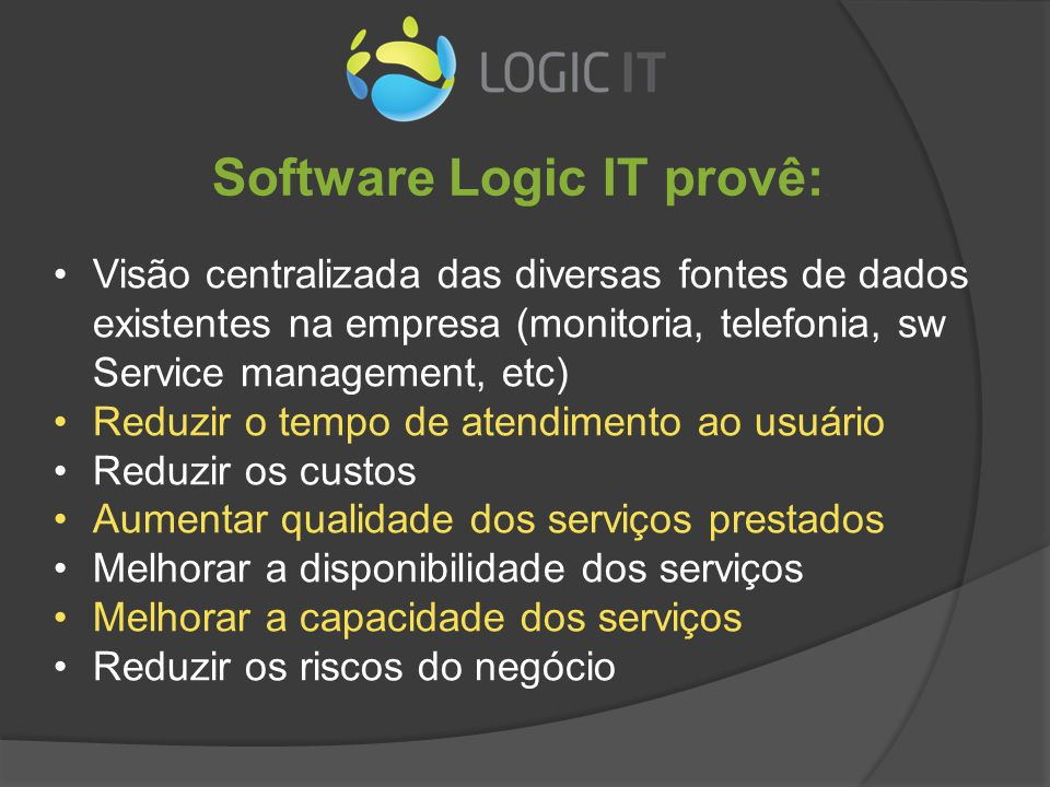 Logic IT – Painel inicial