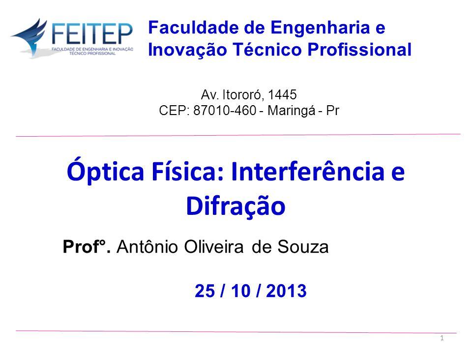 Prof°.Antônio Oliveira de Souza 25 / 10 / 2013 Av.