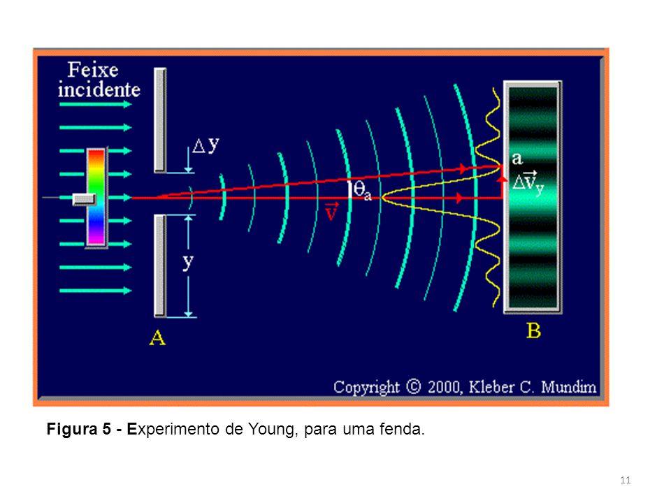 11 Figura 5 - Experimento de Young, para uma fenda.