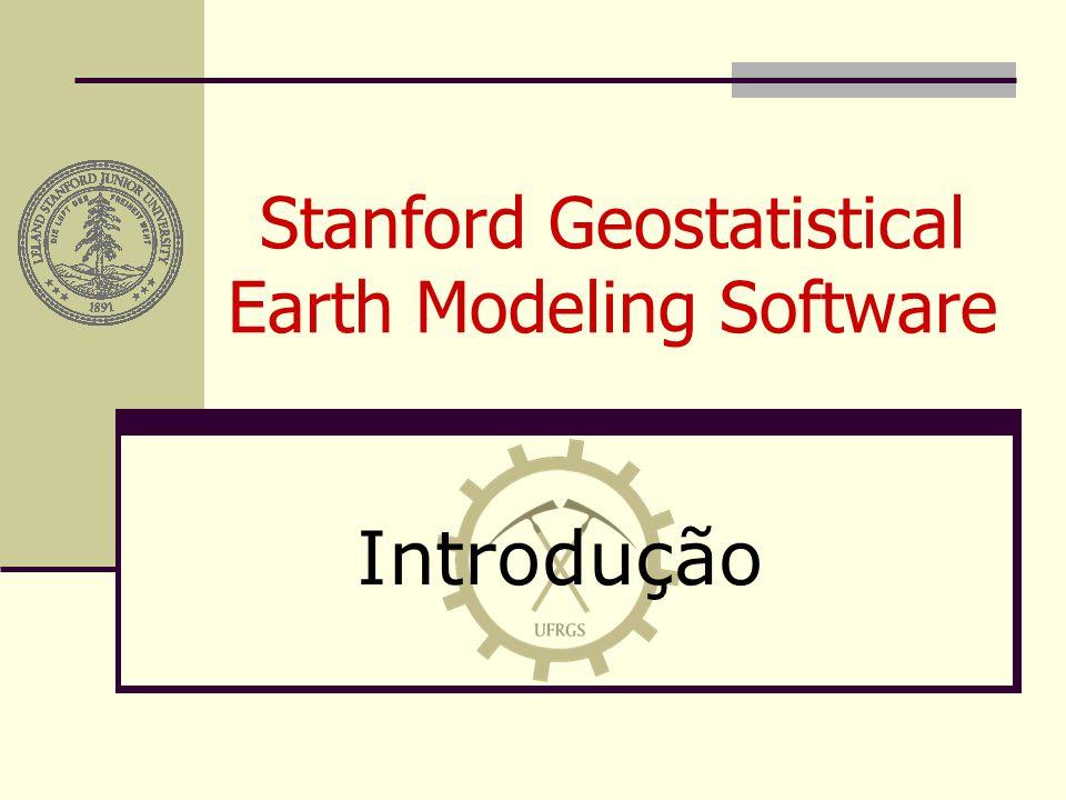 SGeMS Histograma Sumário Estatístico Objeto de trabalho Propriedade de trabalho Número de classes Limites dos dados