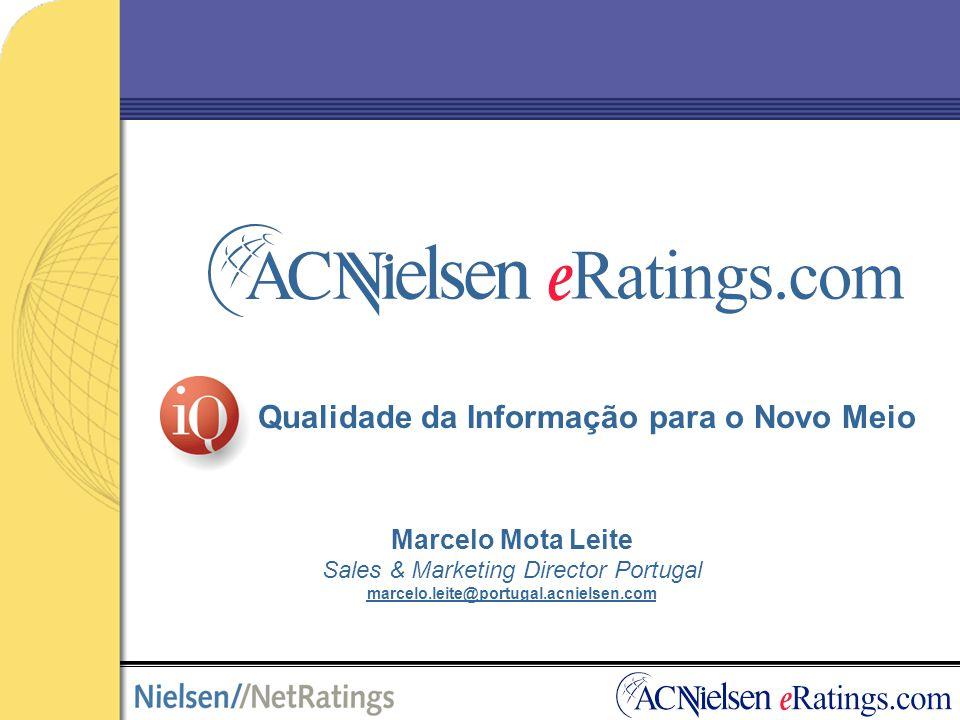 Qualidade da Informação para o Novo Meio Marcelo Mota Leite Sales & Marketing Director Portugal marcelo.leite@portugal.acnielsen.com