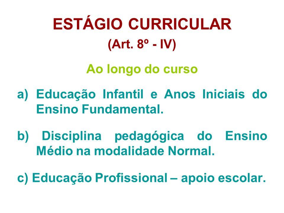 ESTÁGIO CURRICULAR (Art.