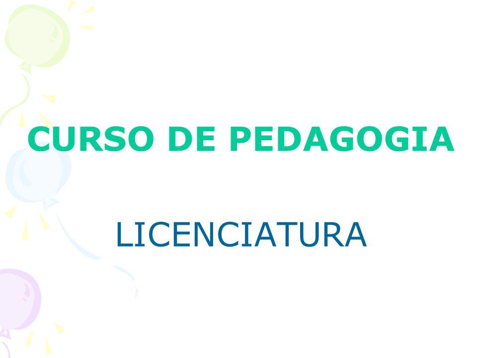 CURSO DE PEDAGOGIA LICENCIATURA