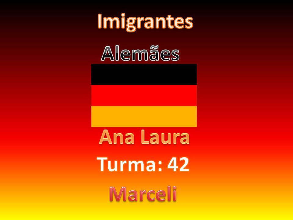 Como e porque vieram Os alemães vieram em 1.824.