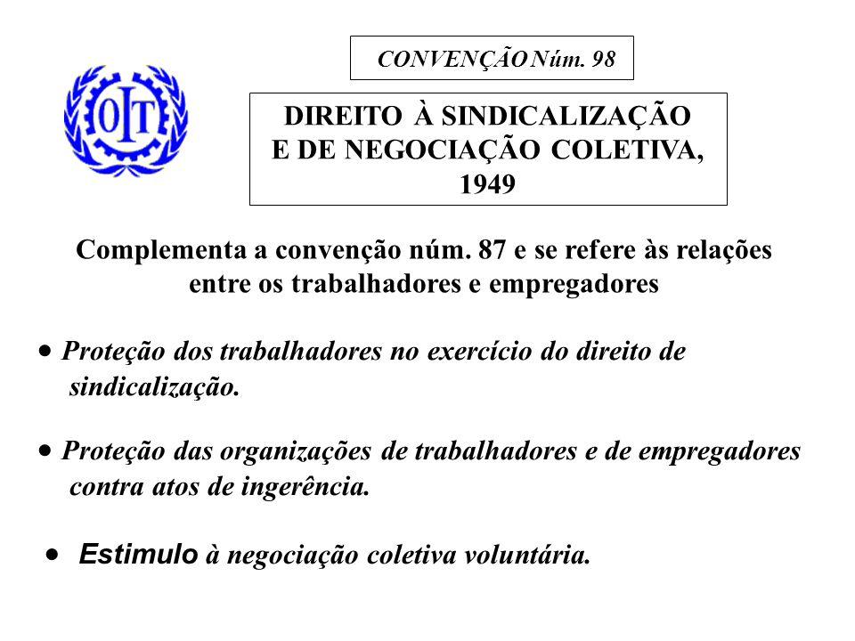 DIREITO À SINDICALIZAÇÃO E DE NEGOCIAÇÃO COLETIVA, 1949 CONVENÇÃO Núm.