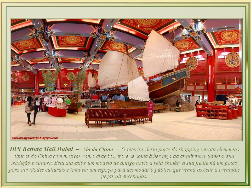 IBN Battuta Mall Dubai - Ala da India O relógio elefante, invenção islâmica do período medieval, de autoria de Al-Jazari (1136-1206); consiste em um r