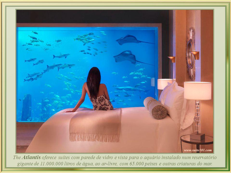 O Hotel Atlantis, The Palm custou US$ 1,5 bilhão e conta com 1.539 quartos.