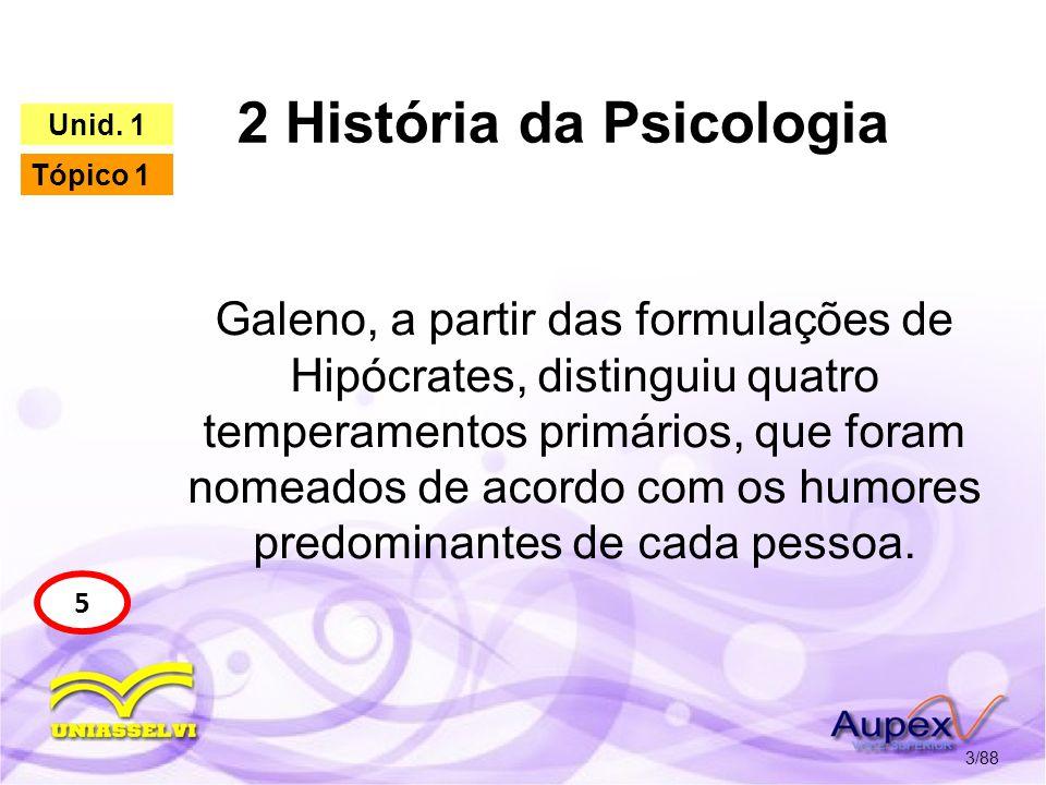 2 História da Psicologia 4/88 5 Unid. 1 Tópico 1 Figura 1 - Galeno