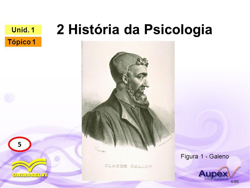 2 História da Psicologia 5/88 5 Unid.1 Tópico 1 1.