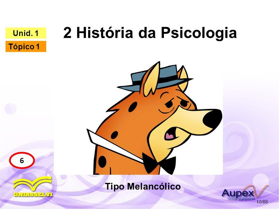 2 História da Psicologia 11/88 6 Unid.1 Tópico 1 4.