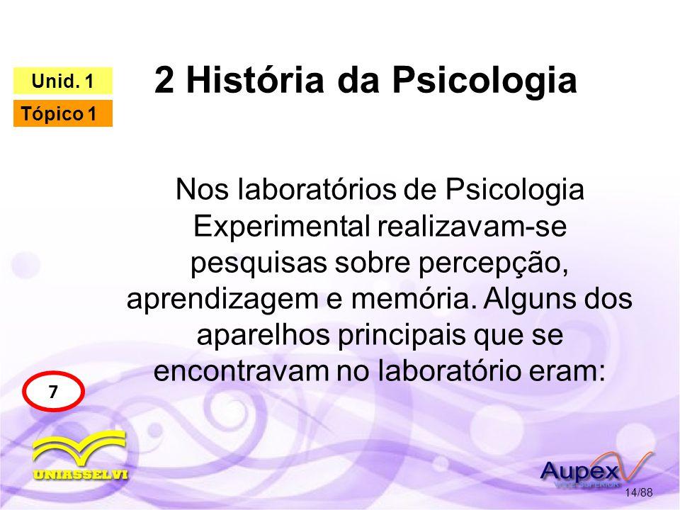 2 História da Psicologia 15/88 7 Unid.
