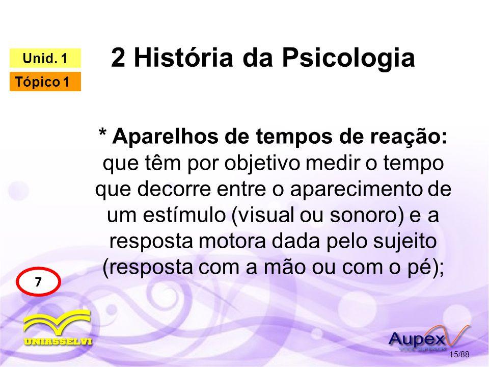 2 História da Psicologia 16/88 7 Unid.