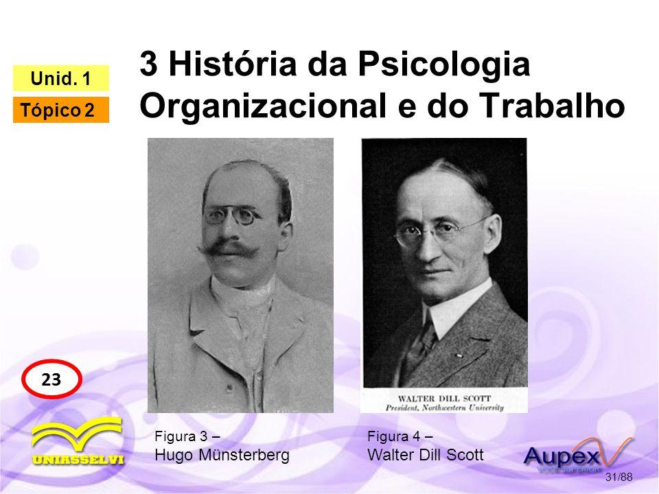 3 História da Psicologia Organizacional e do Trabalho 32/88 24 Unid.