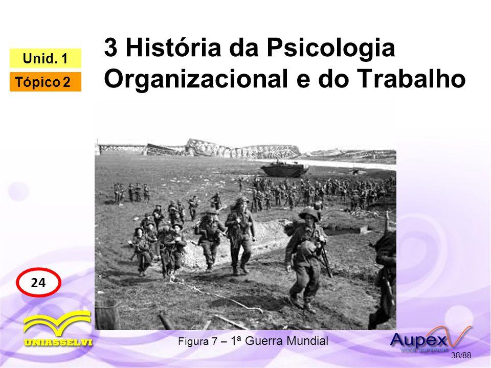 3 História da Psicologia Organizacional e do Trabalho 39/88 24 Unid.