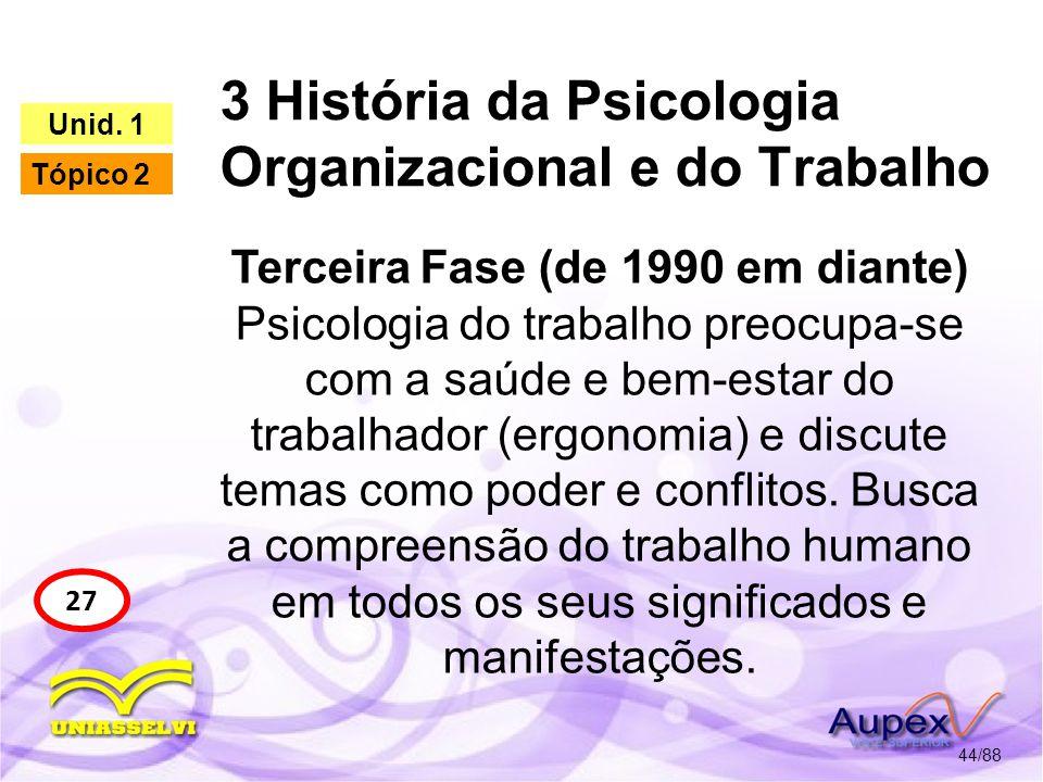 4 O Psicólogo nas Organizações 45/88 28 Unid.