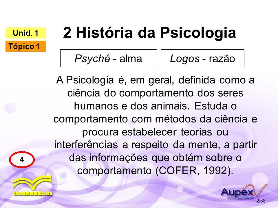 2 História da Psicologia 3/88 5 Unid.