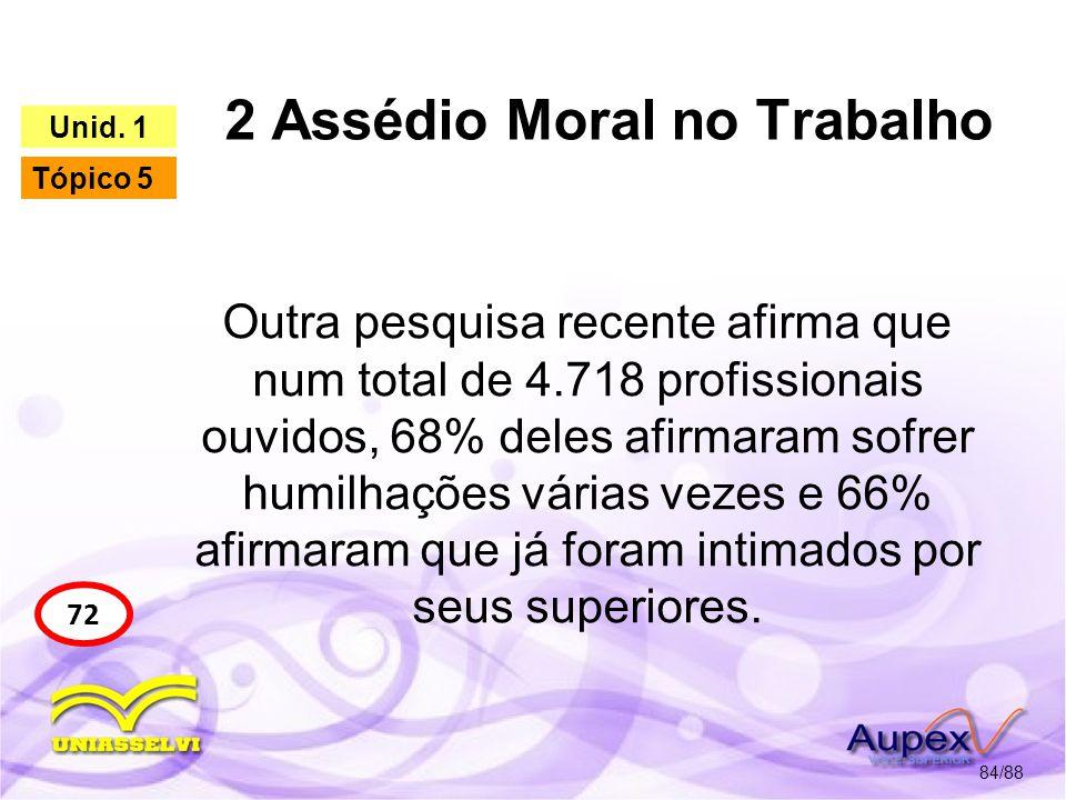 2 Assédio Moral no Trabalho 85/88 72 Unid.