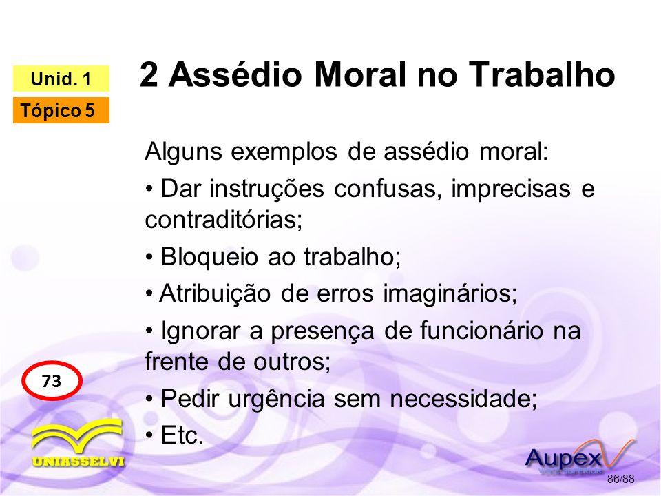 2 Assédio Moral no Trabalho 87/88 78 Unid.