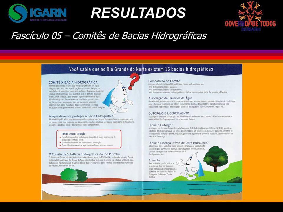 Fascículo 05 – Comitês de Bacias Hidrográficas RESULTADOS