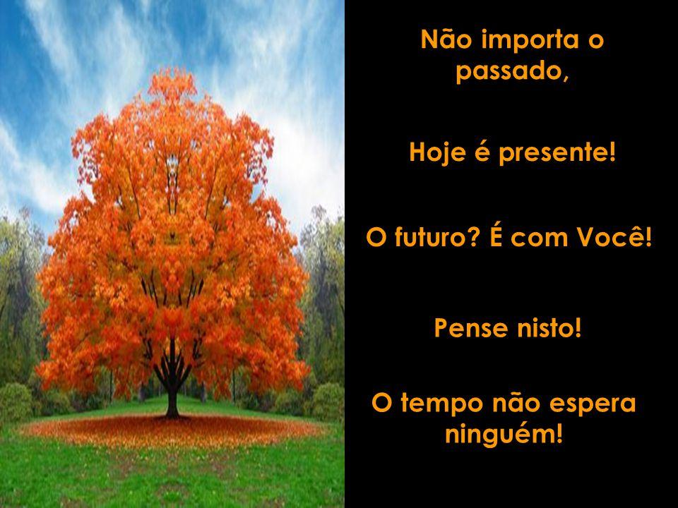 Não importa o passado, Hoje é presente! O futuro? É com Você! Pense nisto! O tempo não espera ninguém!