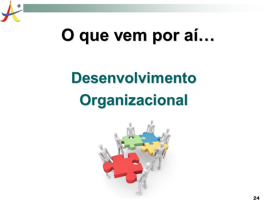 24 O que vem por aí… DesenvolvimentoOrganizacional