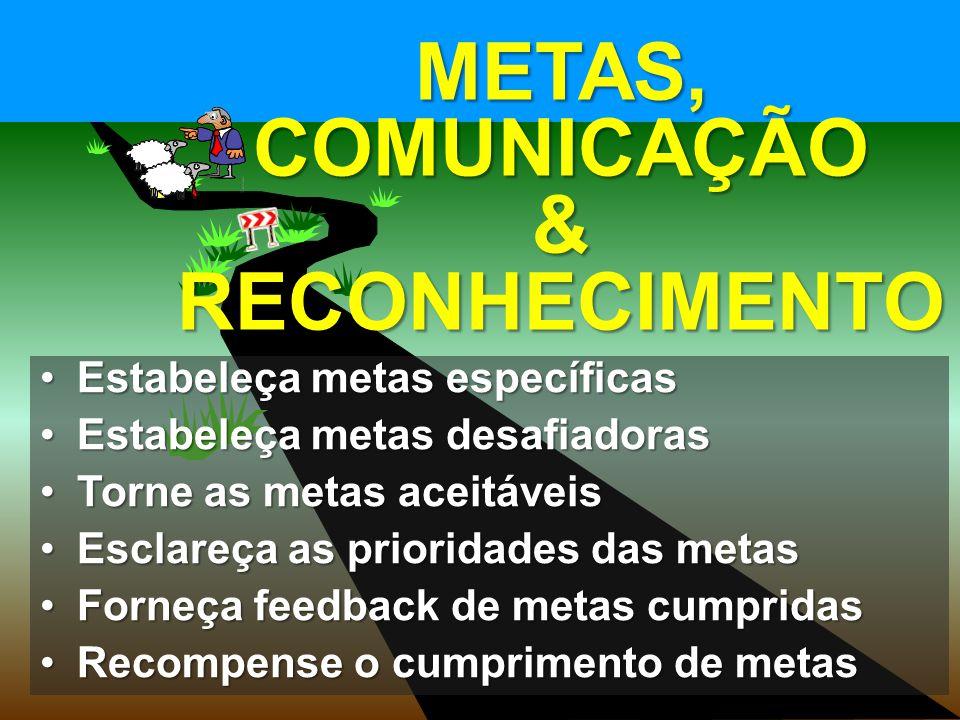 © MARIO PERSONA Comunicação & Marketing www.mariopersona.com.br Estabeleça metas específicasEstabeleça metas específicas Estabeleça metas desafiadorasEstabeleça metas desafiadoras Torne as metas aceitáveisTorne as metas aceitáveis Esclareça as prioridades das metasEsclareça as prioridades das metas Forneça feedback de metas cumpridasForneça feedback de metas cumpridas Recompense o cumprimento de metasRecompense o cumprimento de metas METAS, COMUNICAÇÃO & RECONHECIMENTO