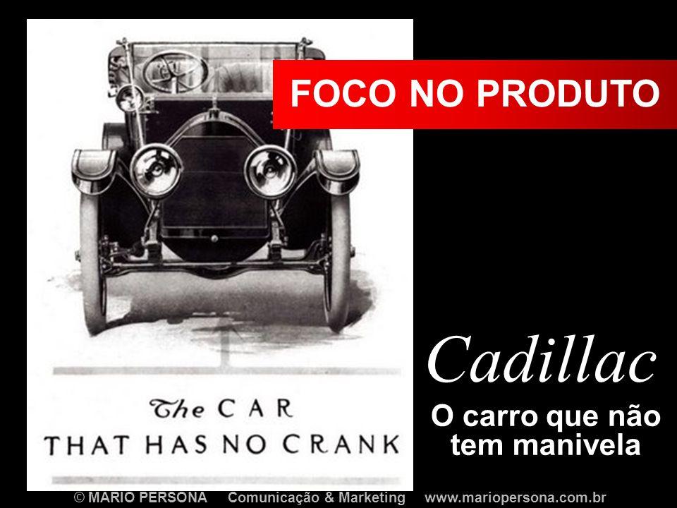 O carro que não tem manivela Cadillac FOCO NO PRODUTO