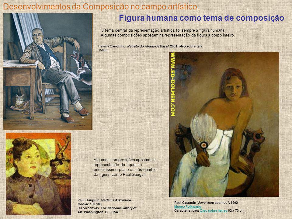 Desenvolvimentos da Composição no campo artístico Figura humana como tema de composição O tema central da representação artística foi sempre a figura