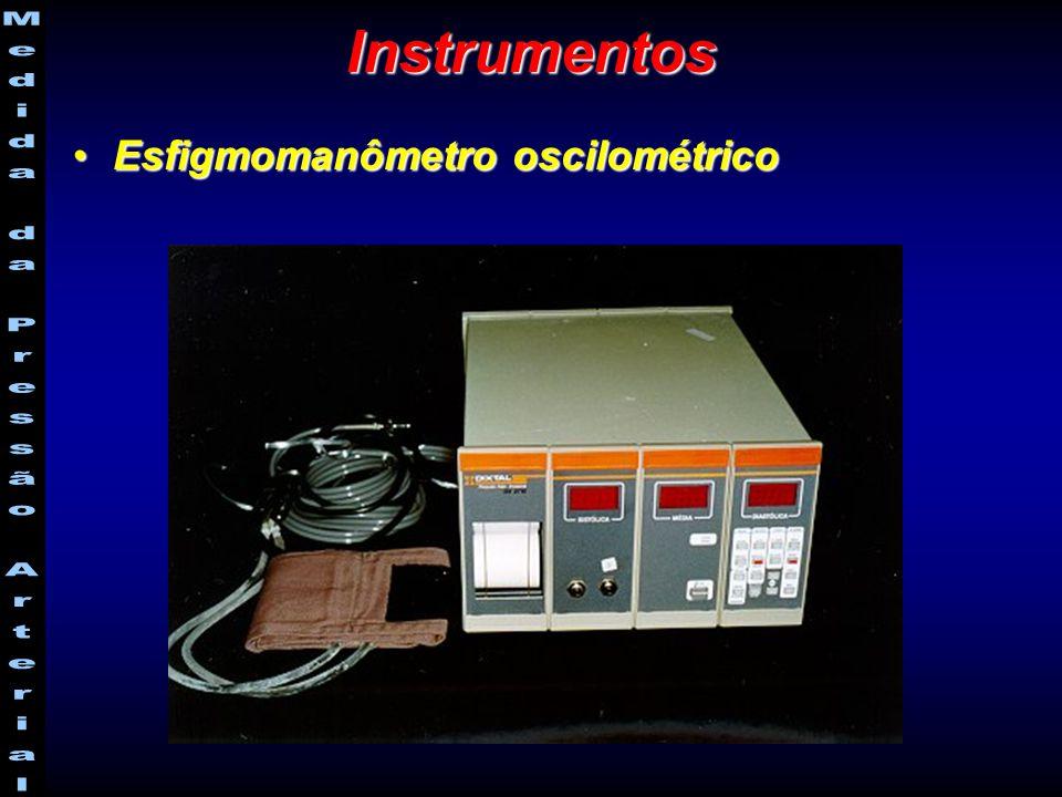 Esfigmomanômetro oscilométrico-Esfigmomanômetro oscilométrico- Monitorização Ambulatorial da Pressão Arterial (MAPA)Monitorização Ambulatorial da Pressão Arterial (MAPA) Instrumentos