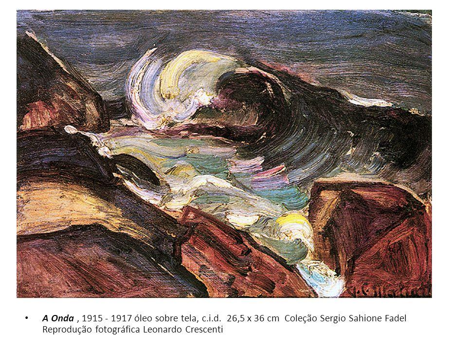 A Onda, 1915 - 1917 óleo sobre tela, c.i.d. 26,5 x 36 cm Coleção Sergio Sahione Fadel Reprodução fotográfica Leonardo Crescenti