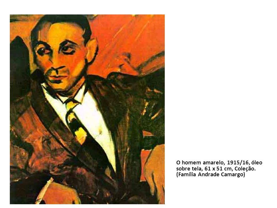 O homem amarelo, 1915/16, óleo sobre tela, 61 x 51 cm, Coleção. (Família Andrade Camargo)