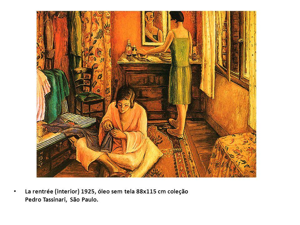 La rentrée (interior) 1925, óleo sem tela 88x115 cm coleção Pedro Tassinari, São Paulo.
